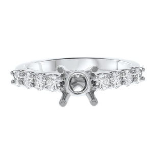 18K White Gold Semi-mount Ring, 0.63 Carats - R&R Jewelers