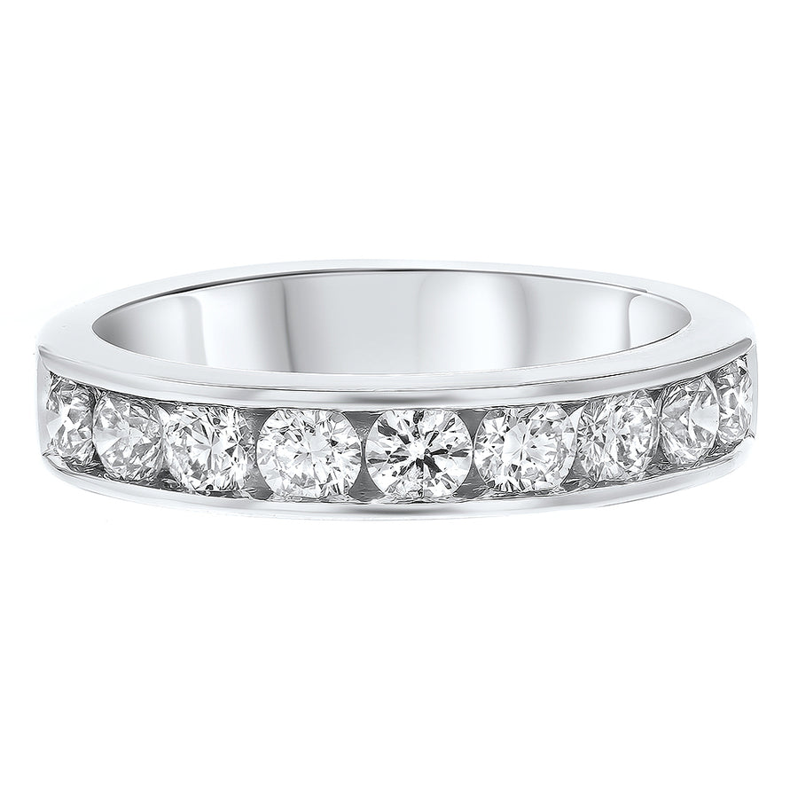 18K White Gold Diamond Wedding Band, 1.11 Carats - R&R Jewelers