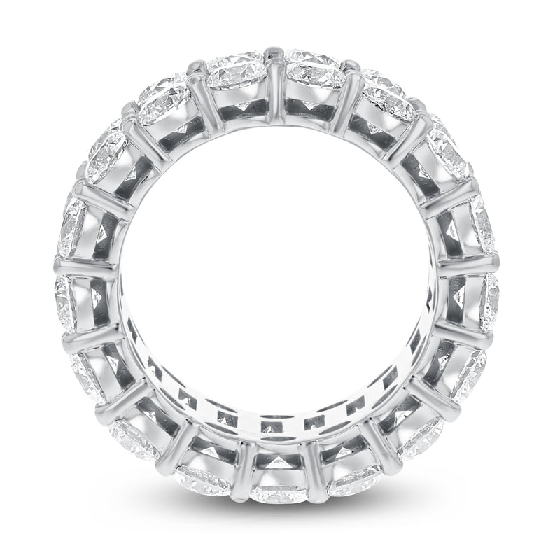 Diamond White Gold 3 Row Eternity Band, 15.47 Carats - R&R Jewelers