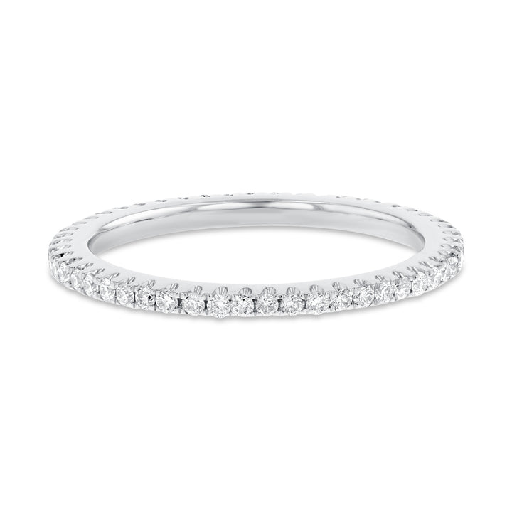 Diamond White Gold Petite Eternity Band, 0.38 Carats