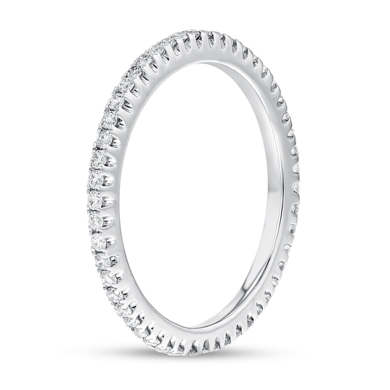 Diamond White Gold Petite Eternity Band, 0.38 Carats - R&R Jewelers