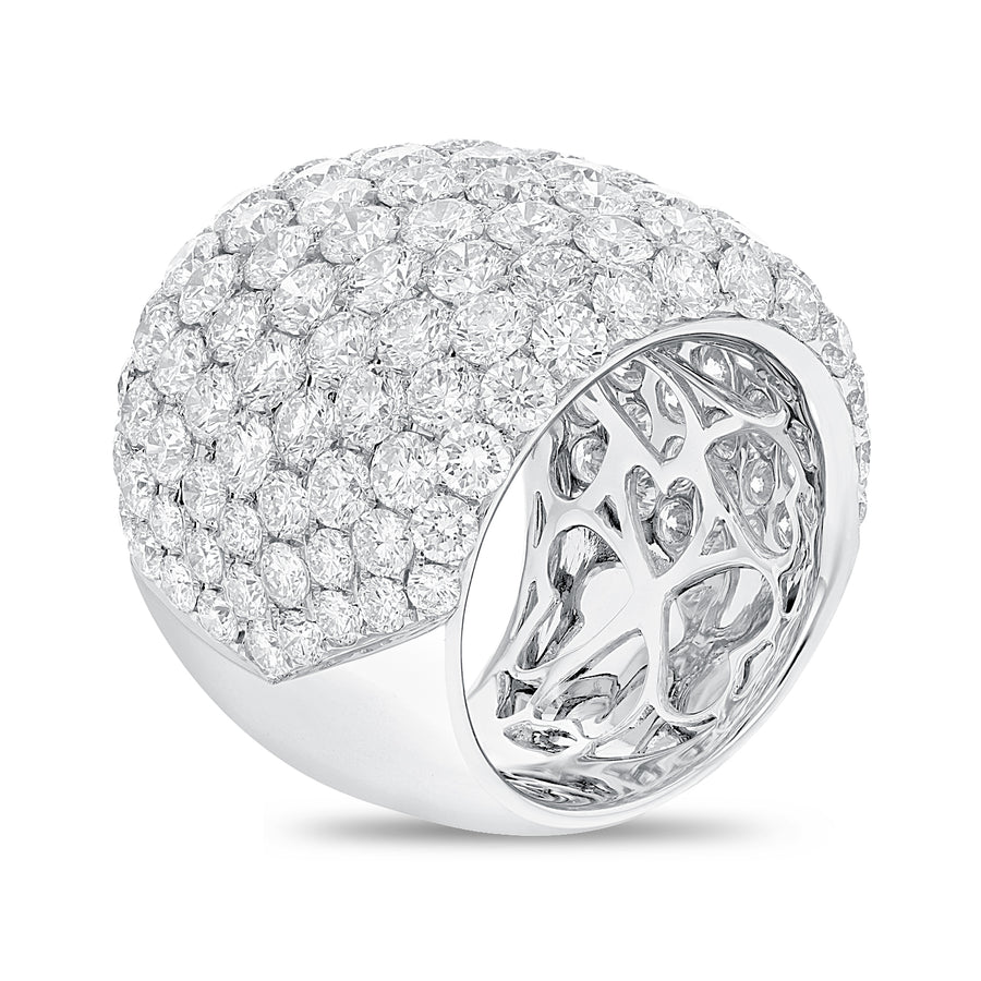 18K White Gold Statement Ring, 10.79 Carats