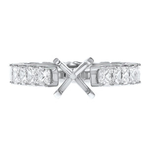 Princess Cut Diamond Eternity Semi Mount Ring - R&R Jewelers