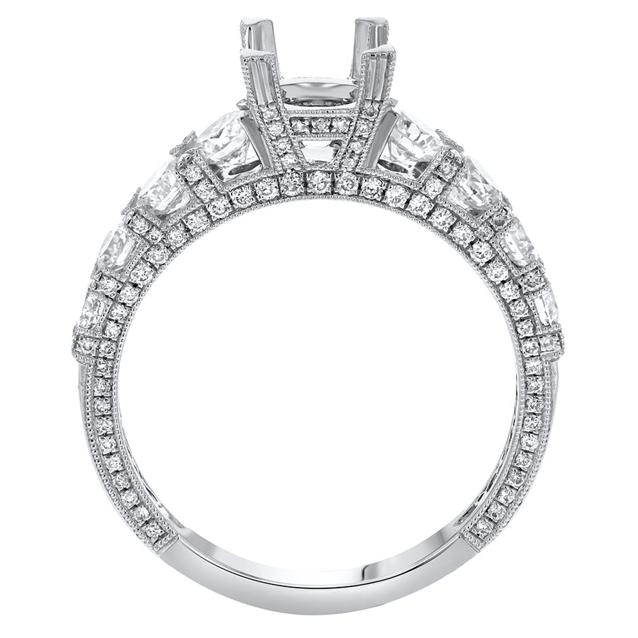 18K White Gold Semi-mount Ring, 1.29 Carats - R&R Jewelers