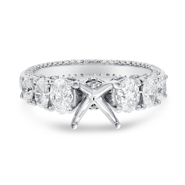 14K White Gold Semi-mount Ring, 1.40 Carats