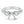 18K White Gold Semi-mount Ring, 0.74 Carats - R&R Jewelers