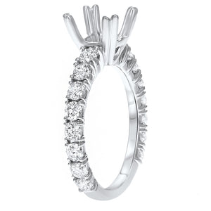 18K White Gold Semi-mount Ring, 1.24 Carats - R&R Jewelers