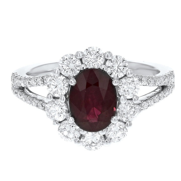 18K White Gold Diamond and Gemstone Ring, 2.51 Carats - R&R Jewelers