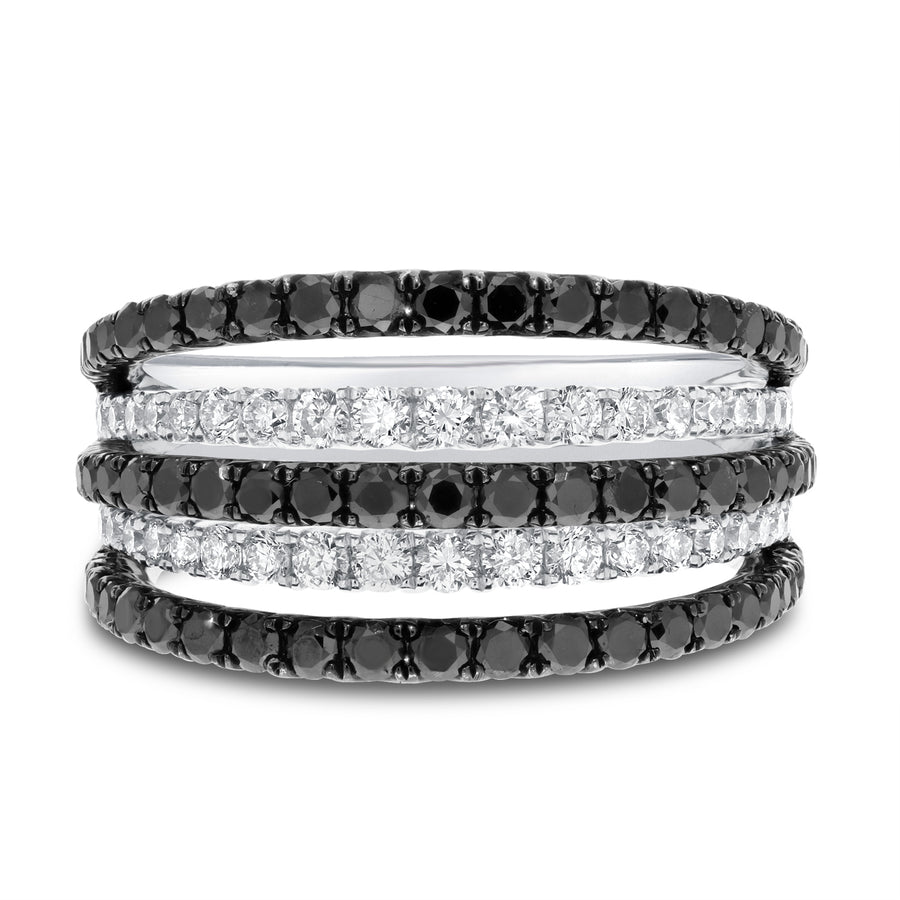Five Row Diamond Statement Ring - R&R Jewelers