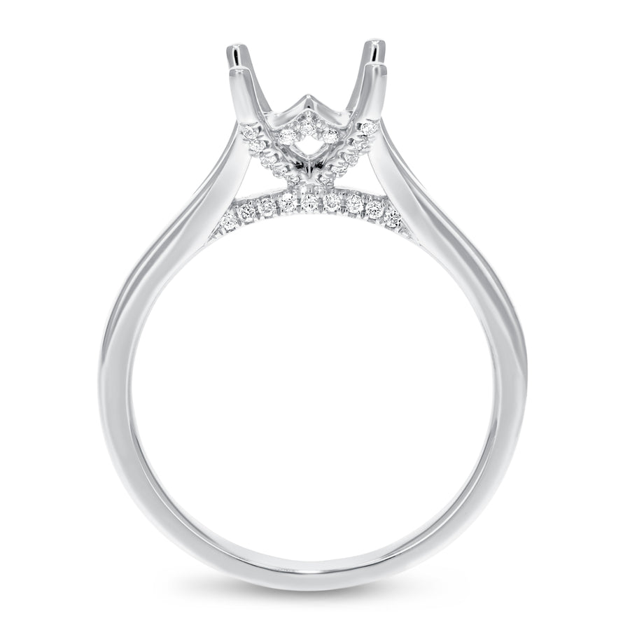 Solitaire Cathedral Semi Mount Ring - R&R Jewelers