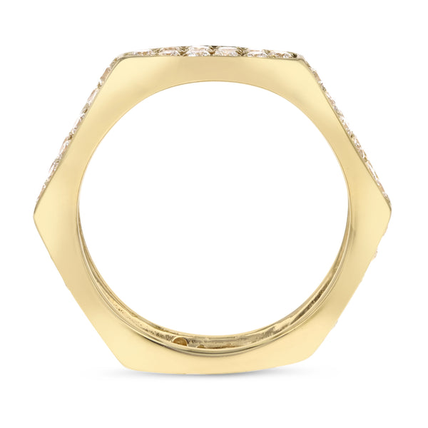 18K Yellow Gold Statement Ring, 0.93 Carats