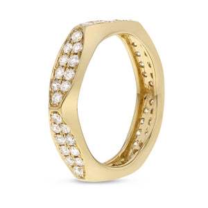 Diamond Yellow Gold Eternity Band, 0.93 Carats - R&R Jewelers