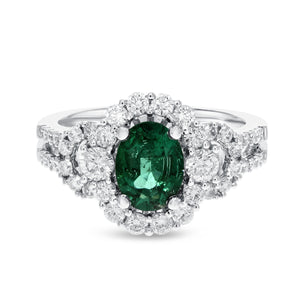 18K White Gold Diamond and Gemstone Ring, 2.01 Carats - R&R Jewelers
