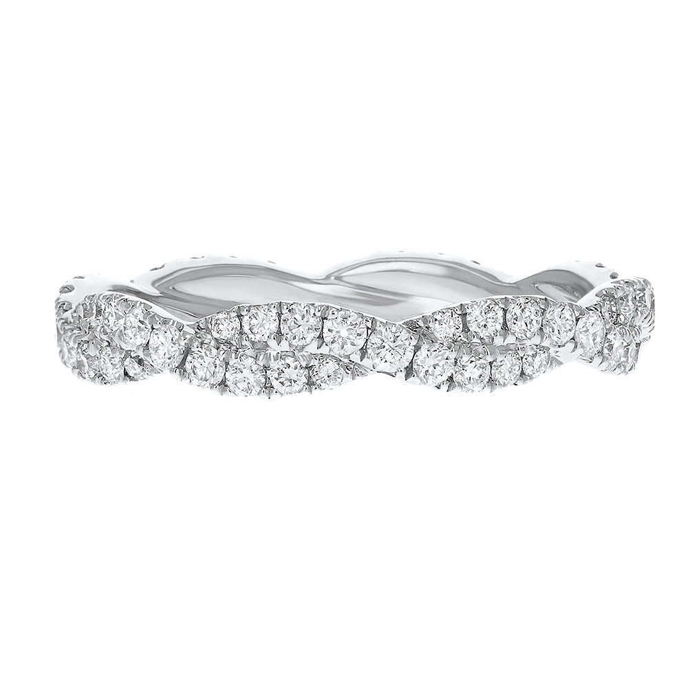18K White Gold Statement Ring, 0.80 Carats