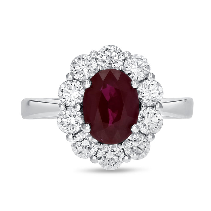 18K White Gold Diamond and Gemstone Ring, 3.20 Carats - R&R Jewelers