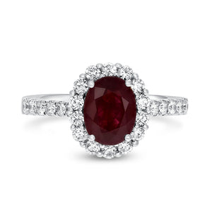 18K White Gold Diamond and Gemstone Ring, 2.24 Carats