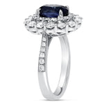 Diamond Double Halo Sapphire Ring - R&R Jewelers