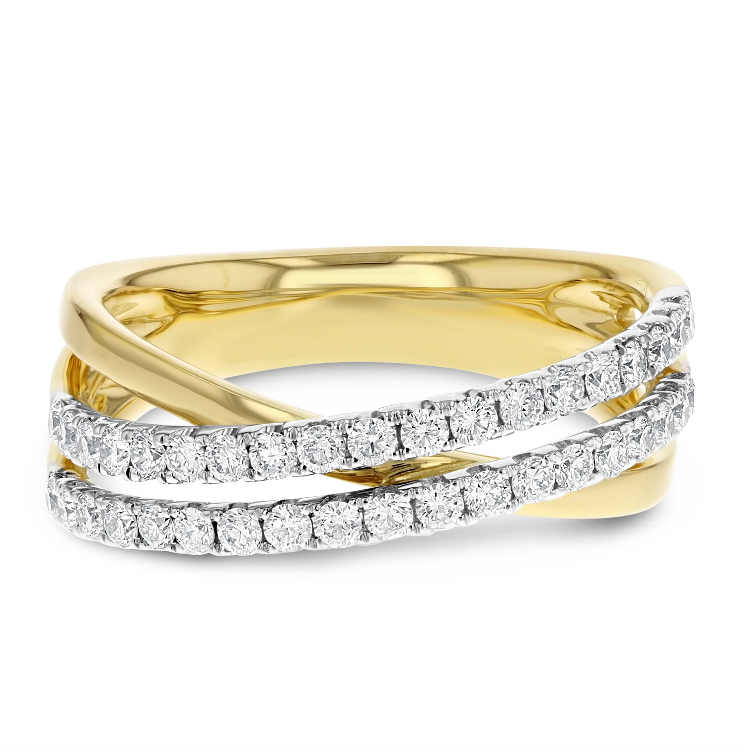 18K TWO TONE GOLD Statement Ring, 0.59 Carats