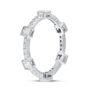 Diamond White Gold Petite Eternity Band, 0.79 Carats - R&R Jewelers