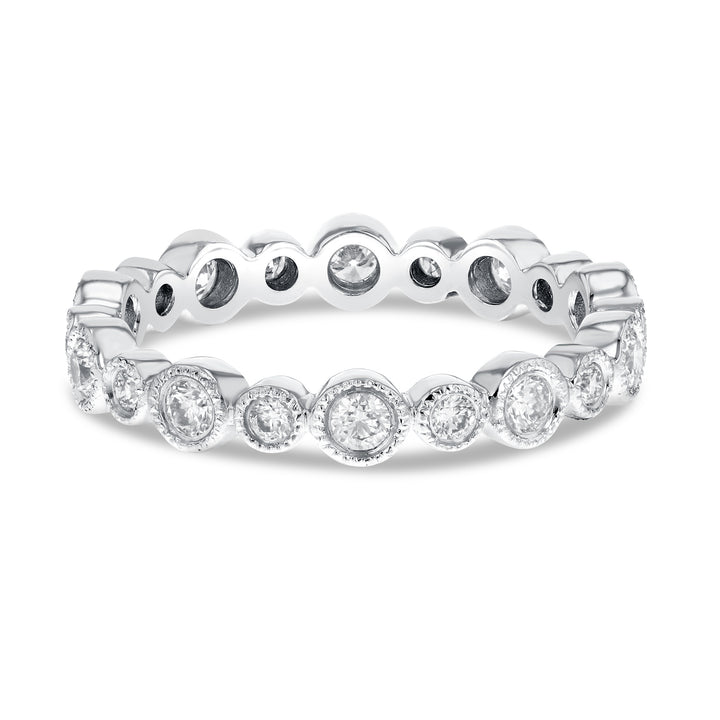 Diamond White Gold Bezel Set, 0.69 Carats