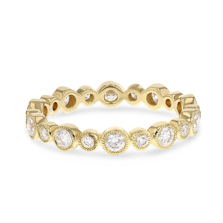 Diamond Yellow Gold Bezel Set, 0.67 Carats