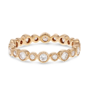 Diamond Rose Gold Bezel Set, 0.67 Carats - R&R Jewelers