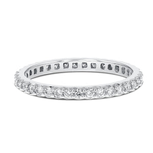 Diamond White Gold Petite Eternity Band, 0.47 Carats - R&R Jewelers