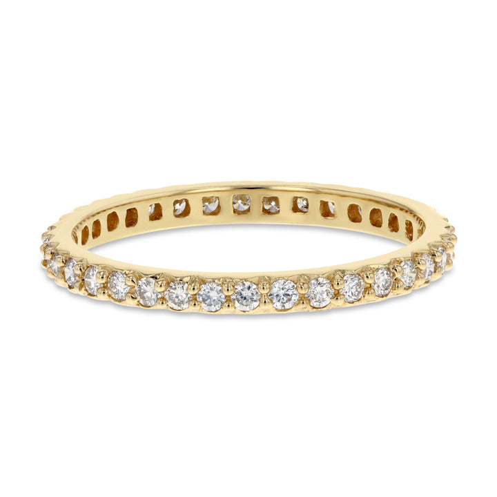 Diamond Yellow Gold Petite Eternity Band, 0.45 Carats