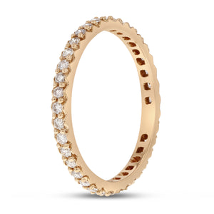 Diamond Rose Gold Petite Eternity Band, 0.43 Carats