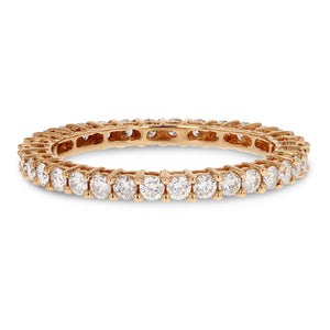 Diamond Rose Gold Eternity Band, 0.80 Carats