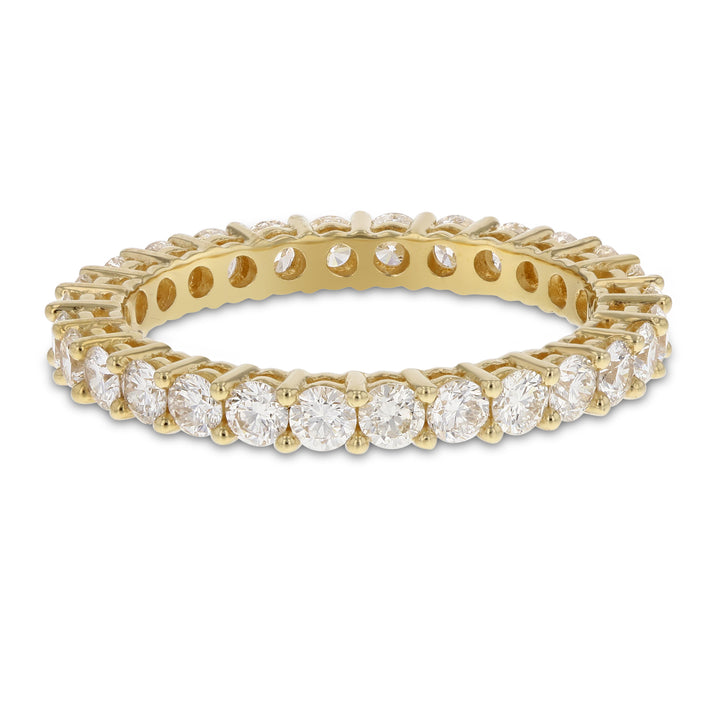 Diamond Yellow Gold Eternity Band, 1.44 Carats