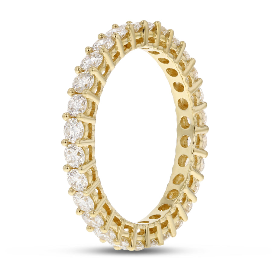 Diamond Yellow Gold Eternity Band, 1.44 Carats - R&R Jewelers