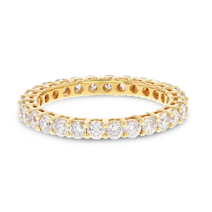 Diamond Rose Gold Eternity Band, 1.47 Carats