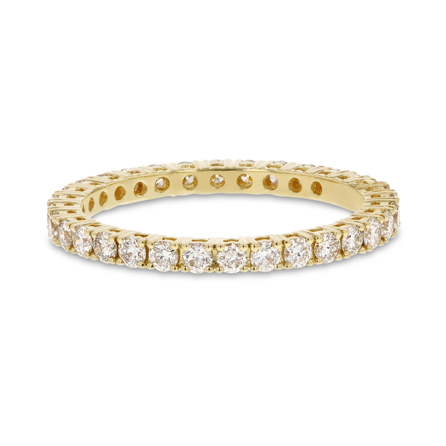 Diamond Yellow Gold Eternity Band, 0.79 Carats - R&R Jewelers