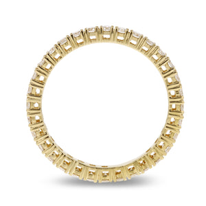 Diamond Yellow Gold Eternity Band, 0.79 Carats