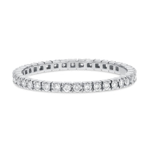 Diamond White Gold Petite Eternity Band, 0.35 Carats