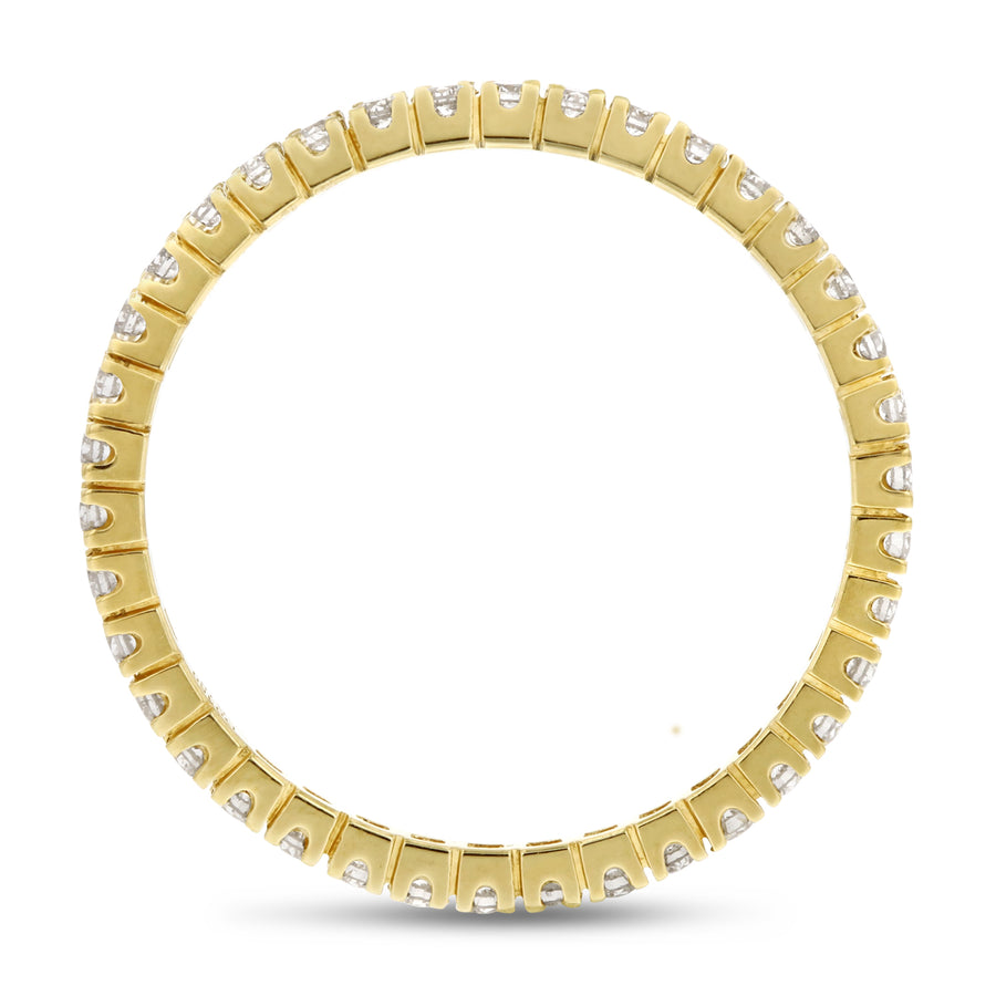 Diamond Yellow Gold Petite Eternity Band, 0.35 Carats
