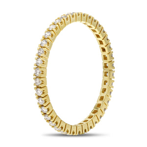 Diamond Yellow Gold Petite Eternity Band, 0.35 Carats - R&R Jewelers
