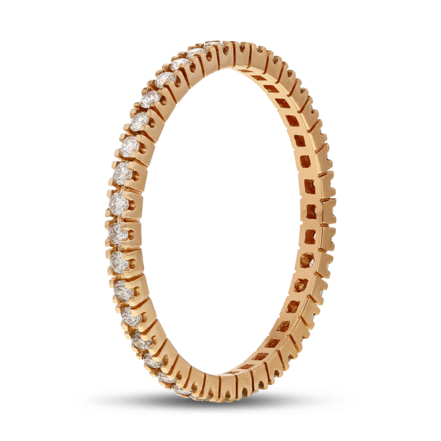 Diamond Rose Gold Petite Eternity Band, 0.36 Carats