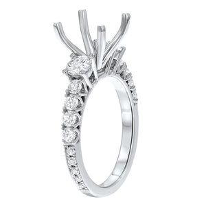 18K White Gold Semi-mount Ring, 1.09 Carats - R&R Jewelers