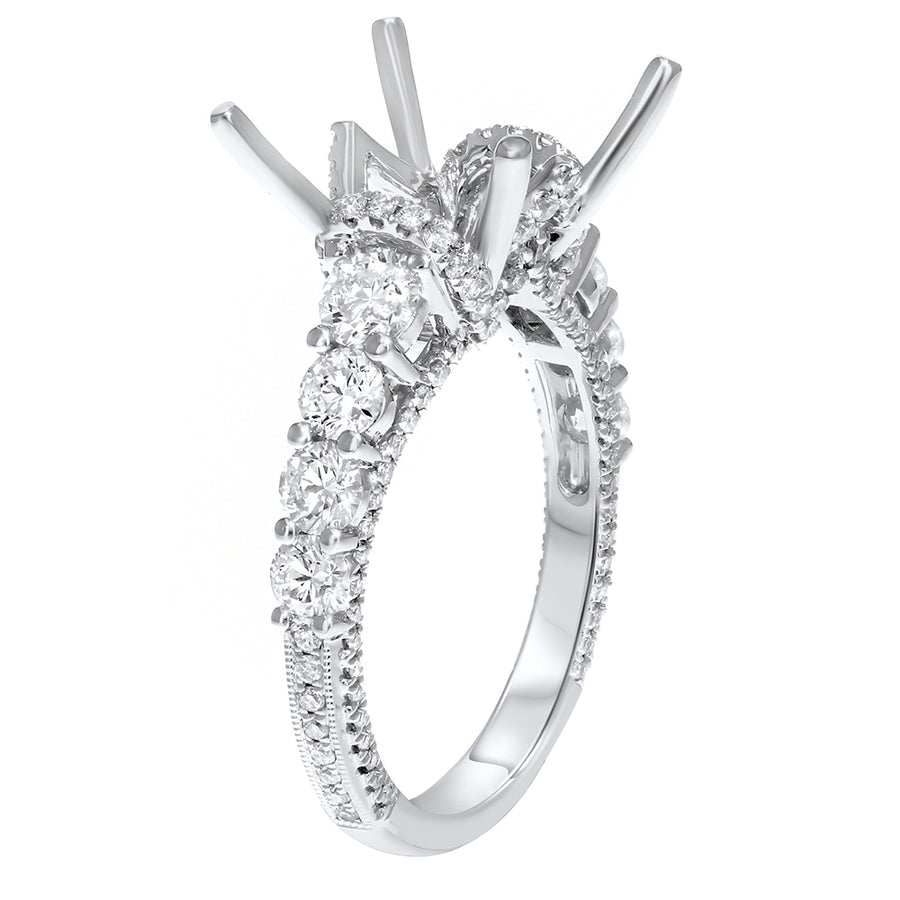 Graduated Diamond Semi Mount Ring - R&R Jewelers