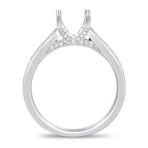 Diamond Milgrain Semi Mount Ring - R&R Jewelers