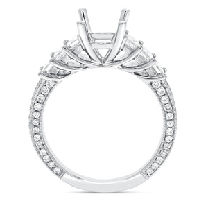 18K White Gold Semi-mount Ring, 0.99 Carats - R&R Jewelers