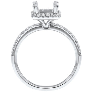 18K White Gold Semi-mount Ring, 0.50 Carats - R&R Jewelers