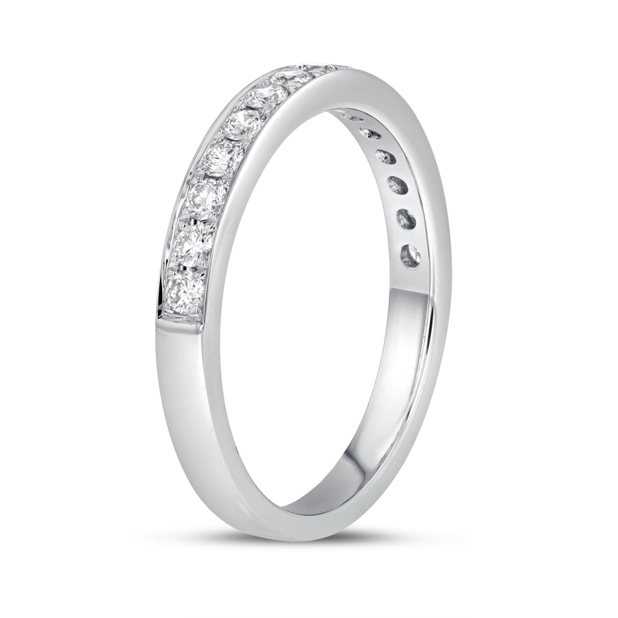 18K White Gold Diamond Wedding Band, 0.41 Carats - R&R Jewelers