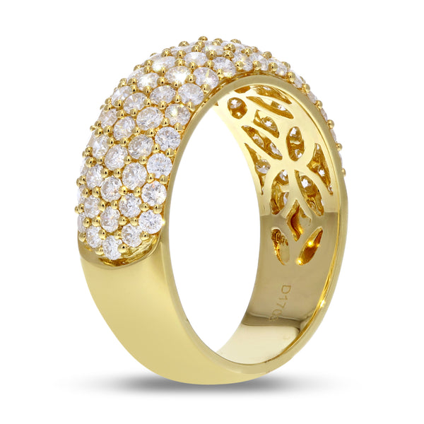 18K Yellow Gold Statement Ring, 1.71 Carats