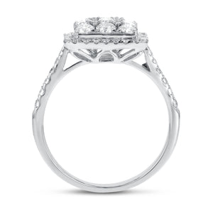 18K White Gold Statement Ring, 1.58 Carats - R&R Jewelers