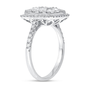 18K White Gold Statement Ring, 1.58 Carats