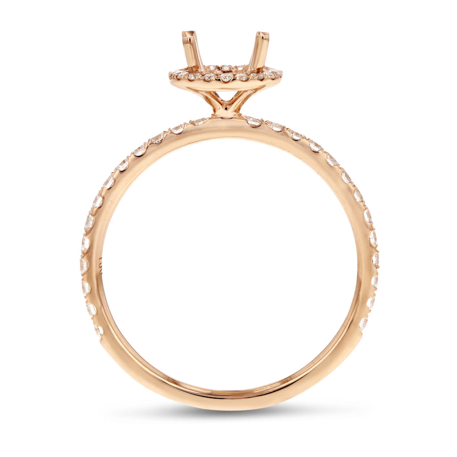 18K Rose Gold Semi-mount Ring, 0.40 Carats - R&R Jewelers
