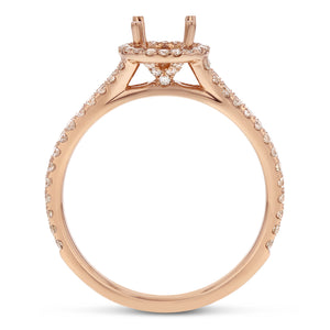 18K Rose Gold Semi-mount Ring, 0.62 Carats - R&R Jewelers